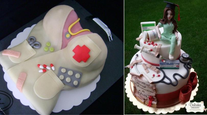 gateau infirmiere 3D theme
