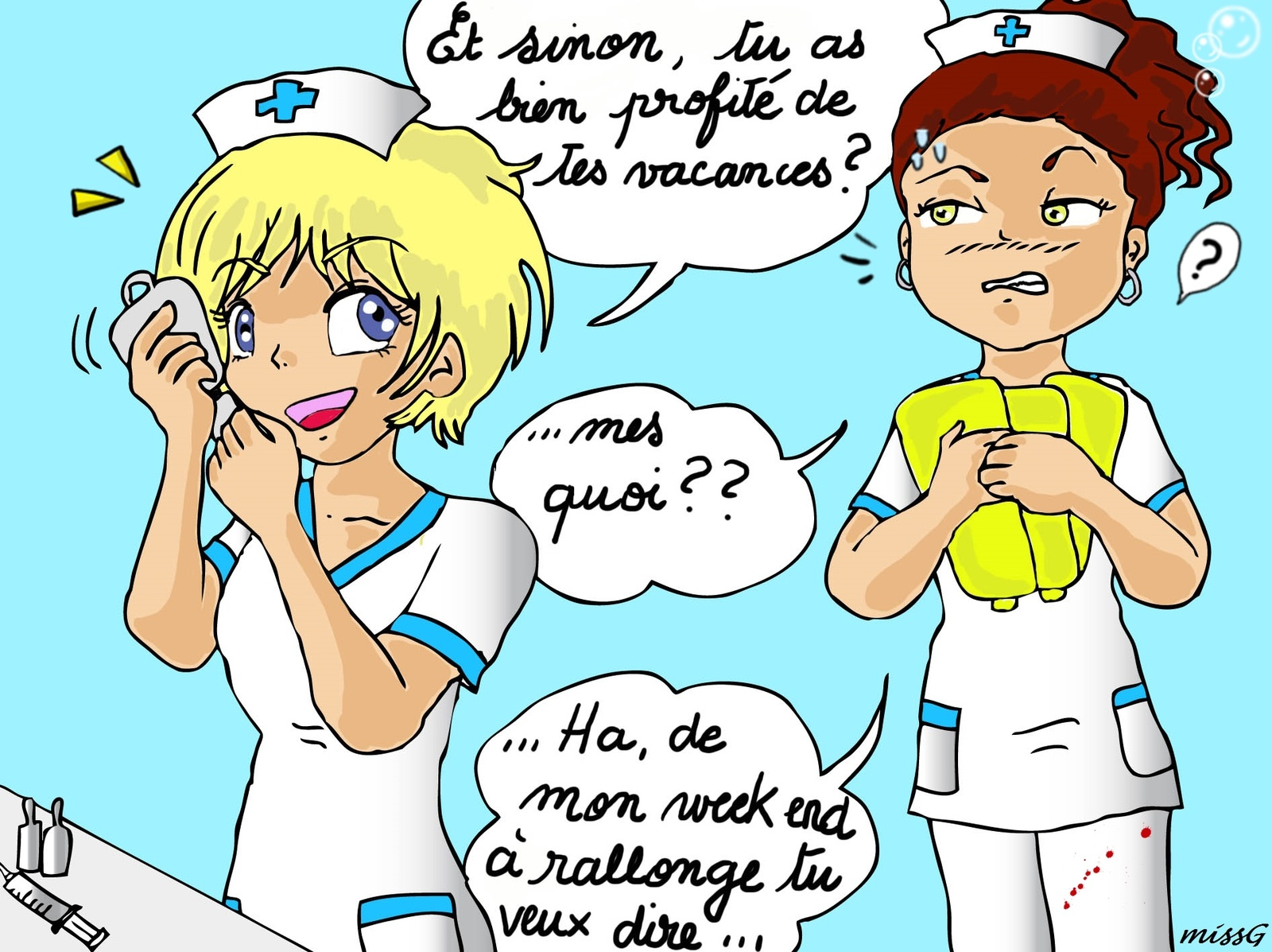 image drole infirmiere
