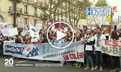 Grève des infirmières : les reportages de la grande vague blanche !