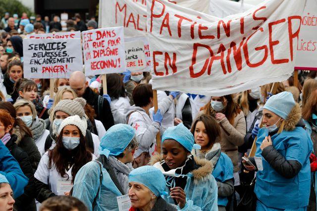 manifestation revendications infirmières