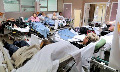 SANDALE ! Des patients sur des lits de camp dans un hôpital de Dijon !