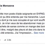 Le triste message d'une aide-soignante française devient viral…