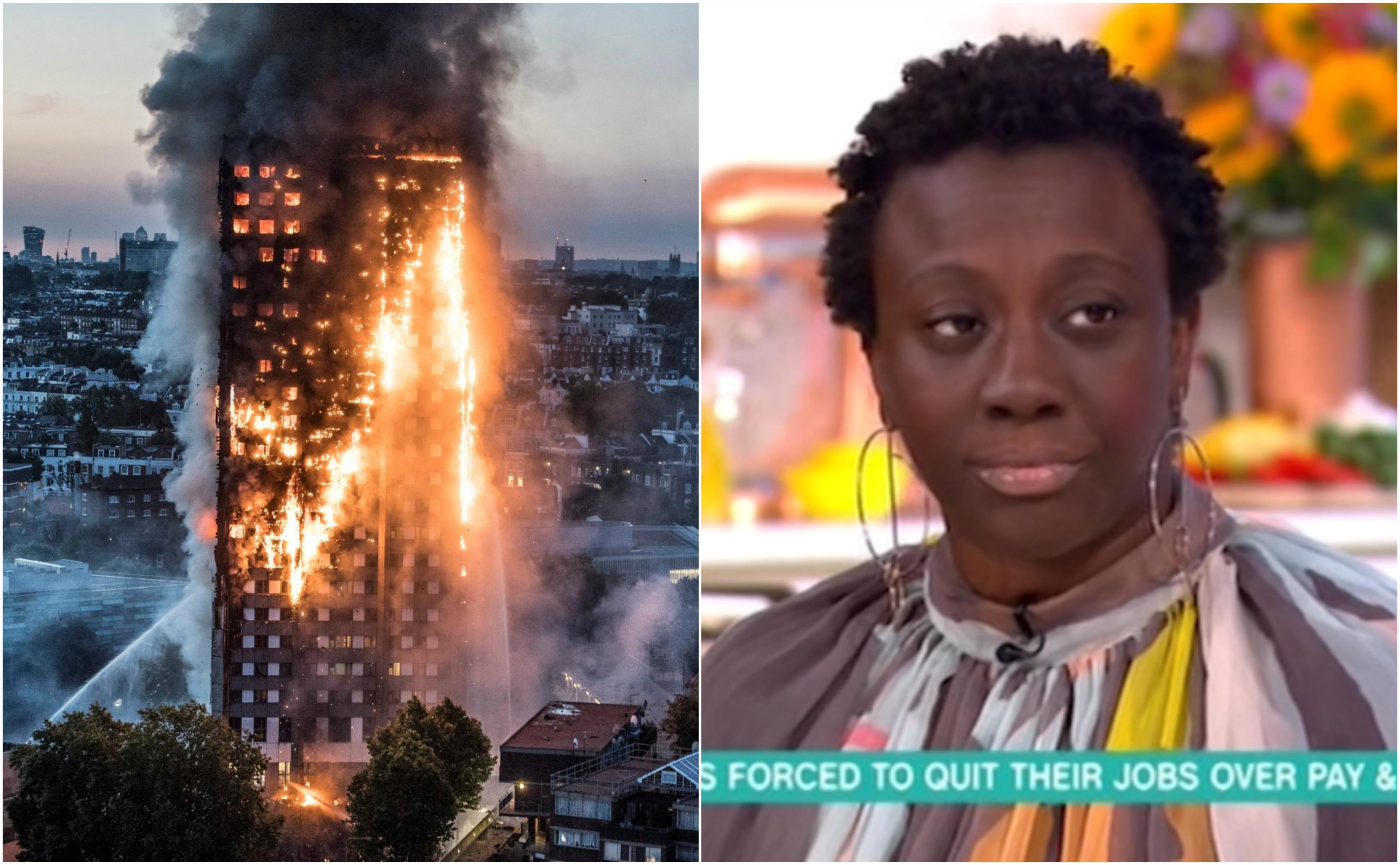 Triste histoire pour cette infirmière, héroïne du feu de la tour de Londres