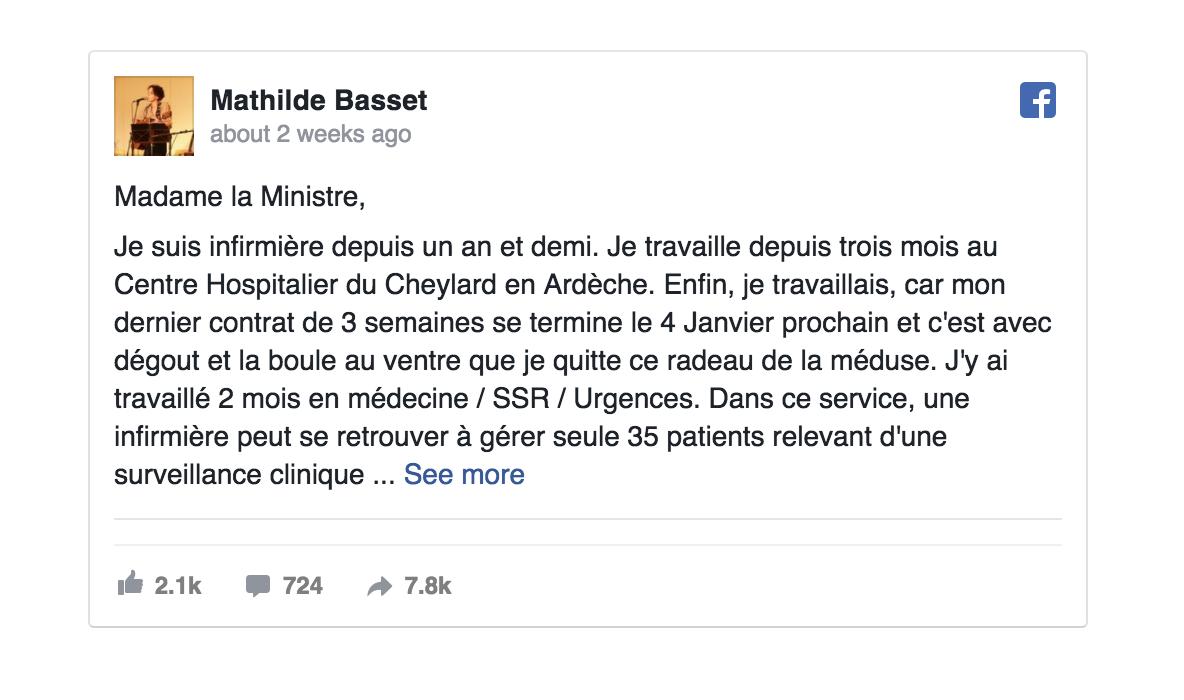 Une infirmière écrit un message pour Agnès Buzyn qui devient viral
